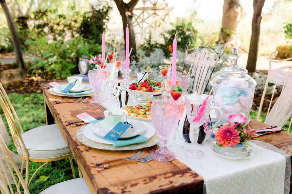 funky mad hatter themed tea party