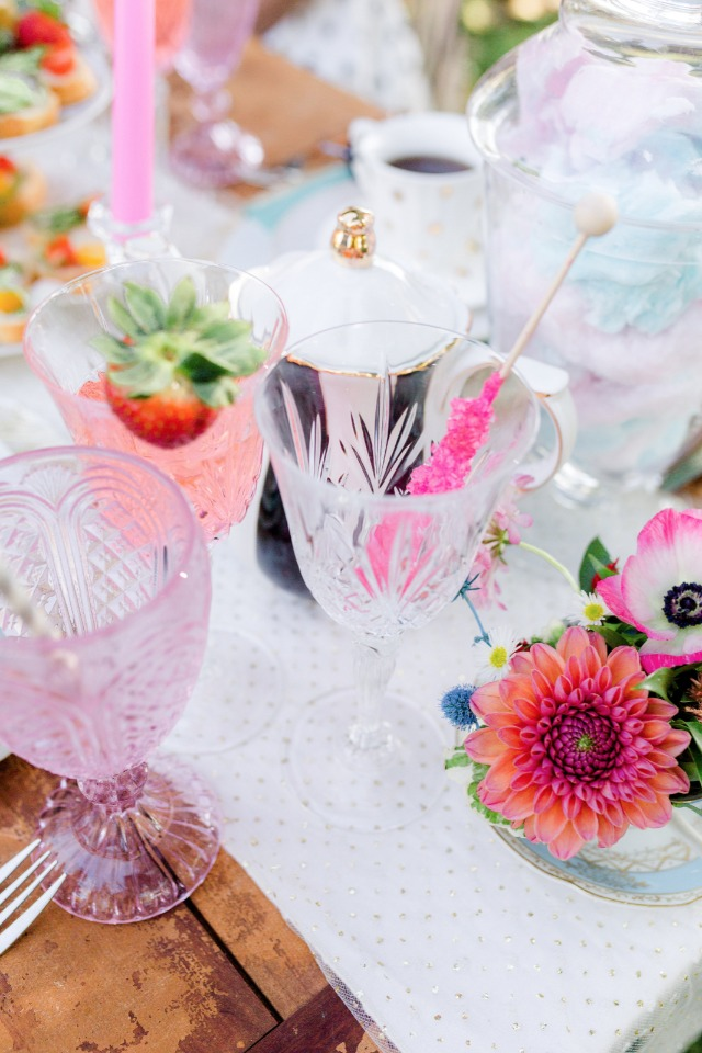 mix and match tea party table
