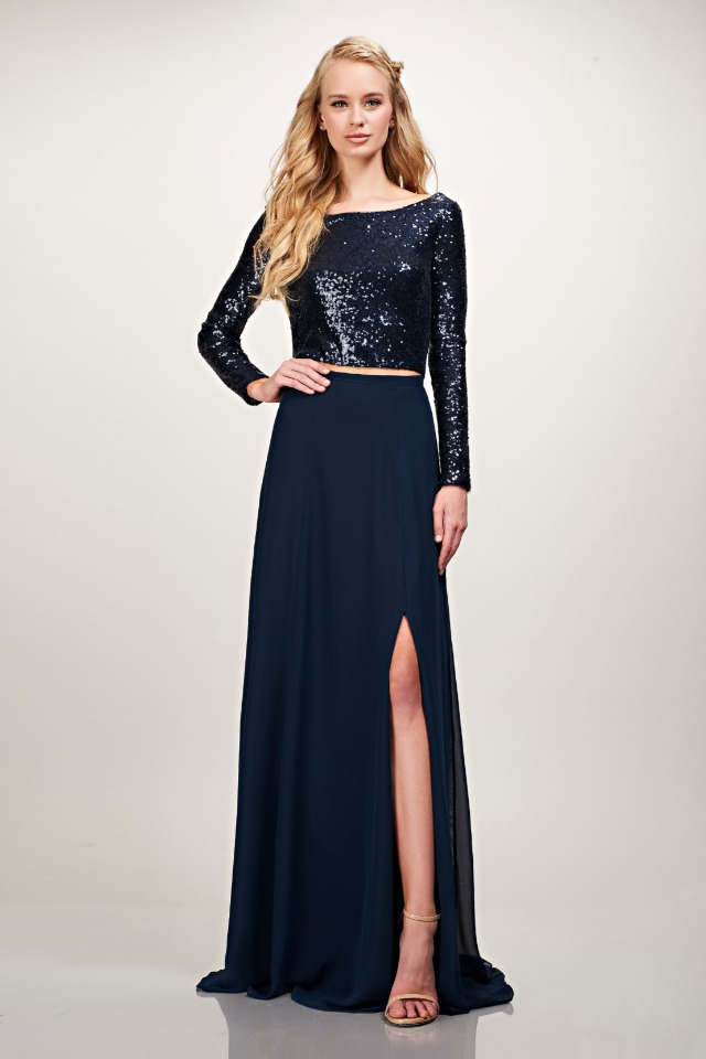 mix and match two piece gown