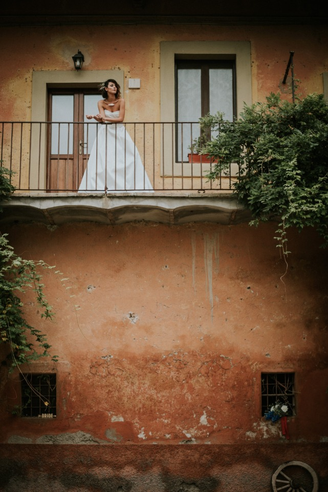 Cool bridal portrait