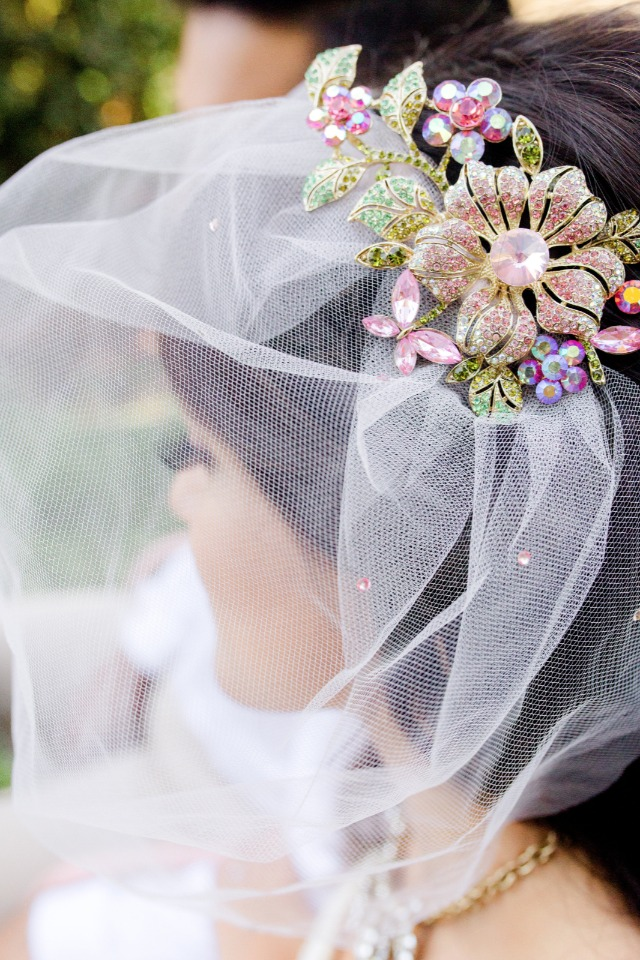 whimsical wedding veil from Urban Veils Couture