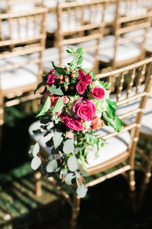 Aisle chair decor