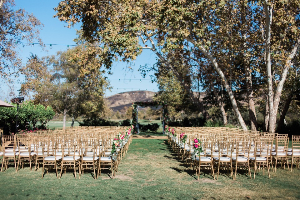 Lovely outdoor ceremony