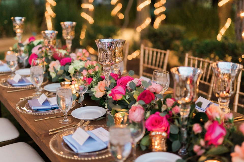 Beautiful head table centerpiece