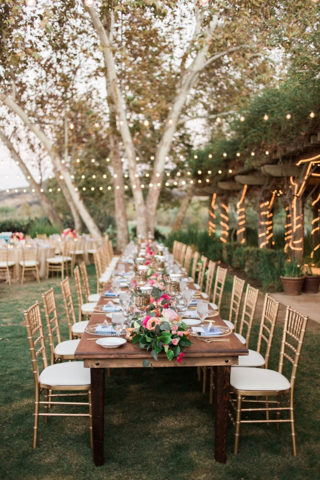 Gorgeous outdoor reception