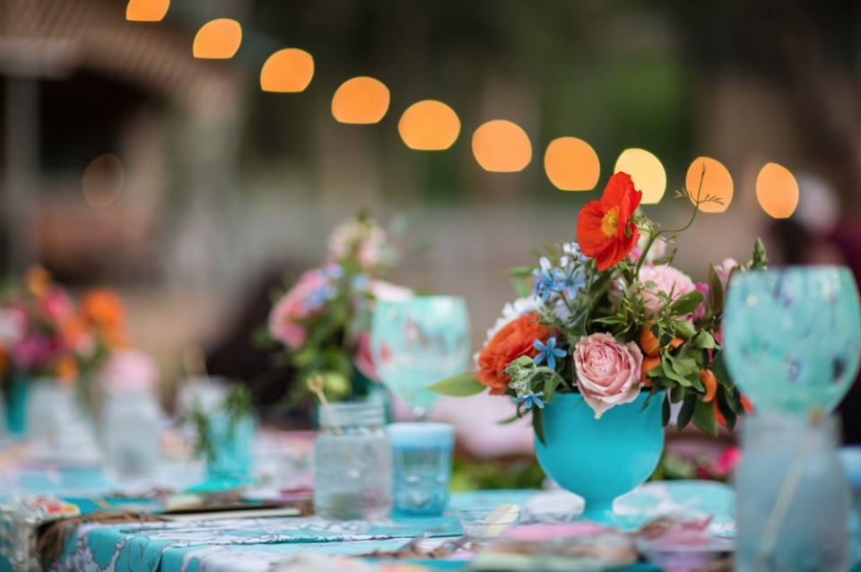 Colorful table decor