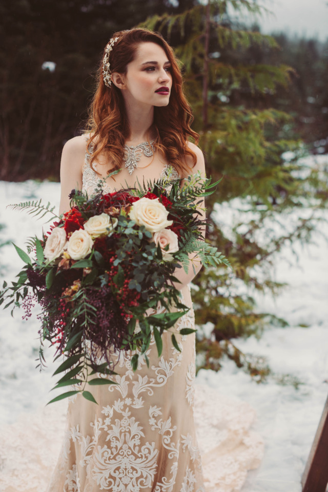Don't Like Snow? This Gorgeous Winter Wedding Will Make You Rethink