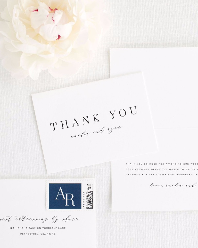 Amelie thank you cards from Shine