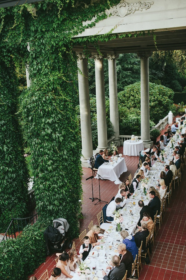 Romantic patio reception