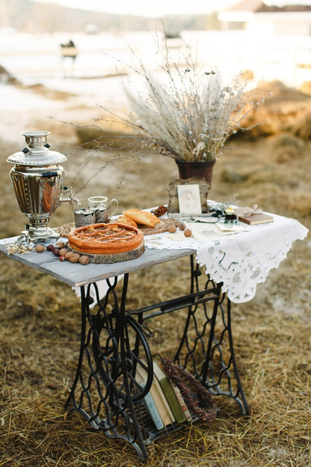 rustic vintage chic dessert table