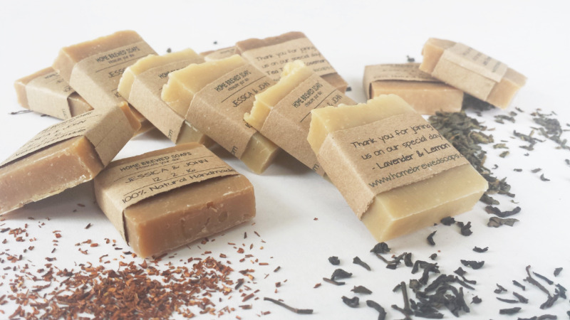 Looking for some unique wedding favors for your country, rustic or natural setting wedding? Our new tea wedding soaps are the perfect