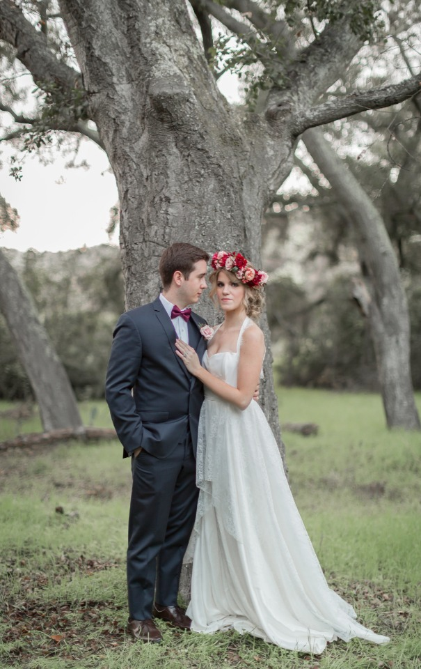 Valentine's day bride and groom