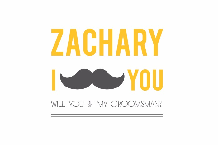 Print: Will You Be My Groomsman Free Printables