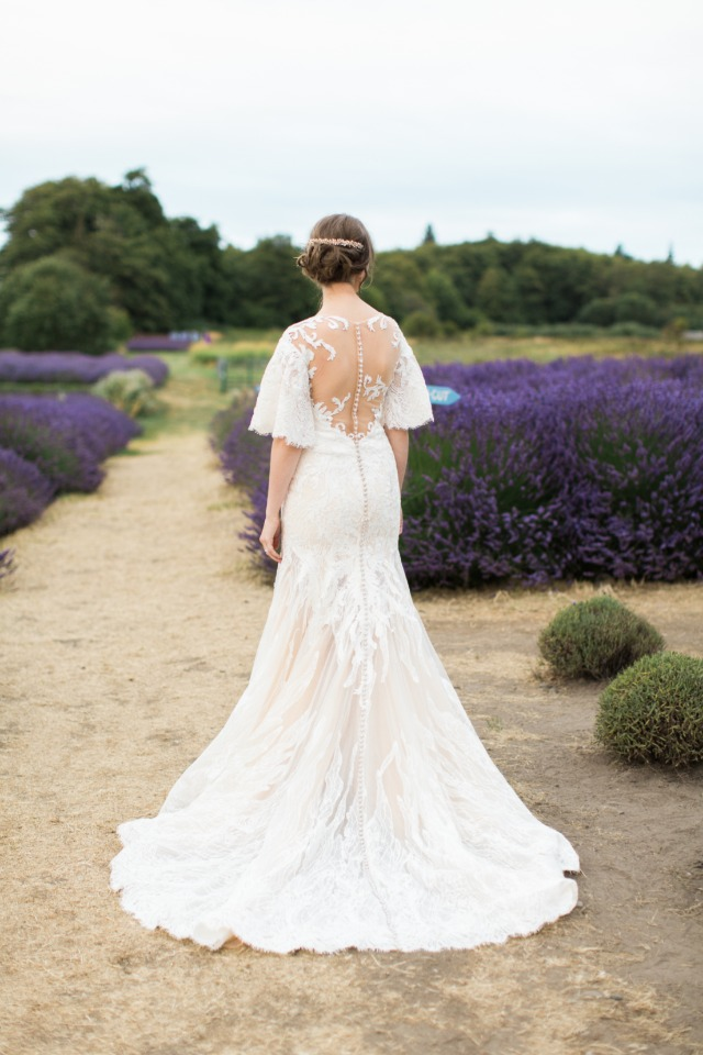 illusion back Anny Lin Bridal gown