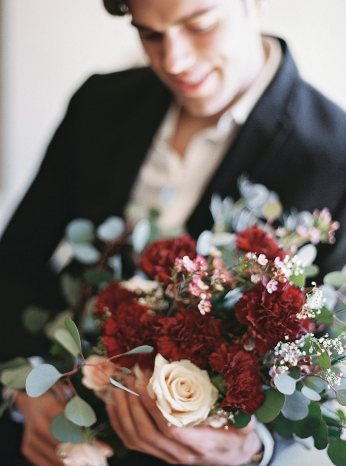 Flowers for his date