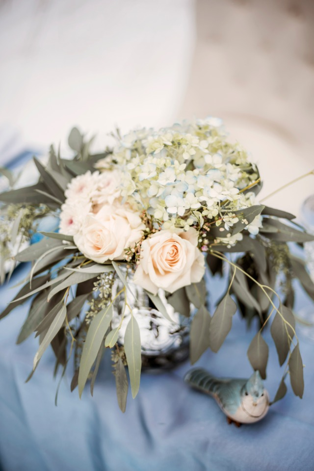 soft and muted centerpiece