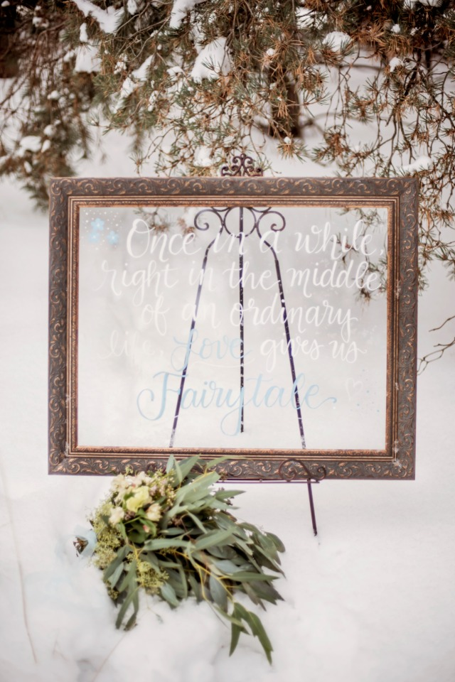 framed fairytale quote sign