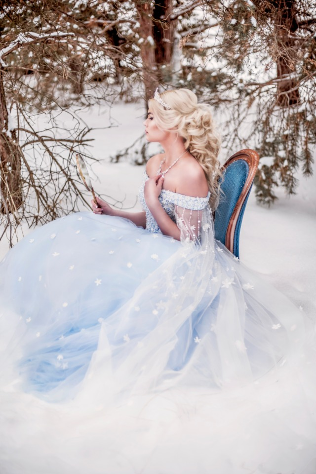 ice blue wedding gown perfect for your fairytale wedding