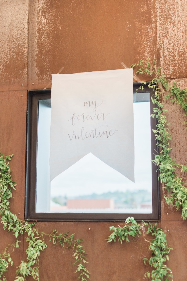 """My forever Valentine"" sign idea for a Valentines day wedding"