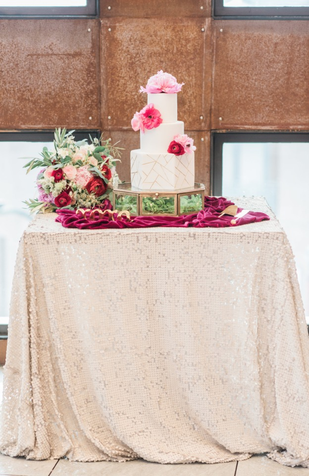 Gorgeous cake table display