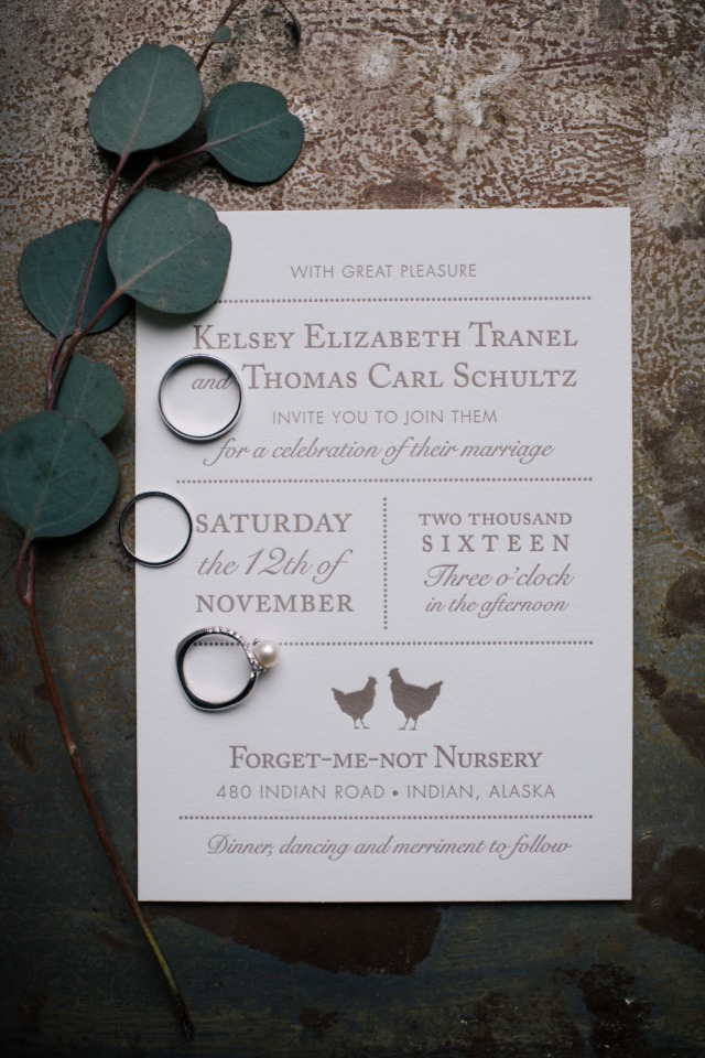 clean and modern wedding invitations