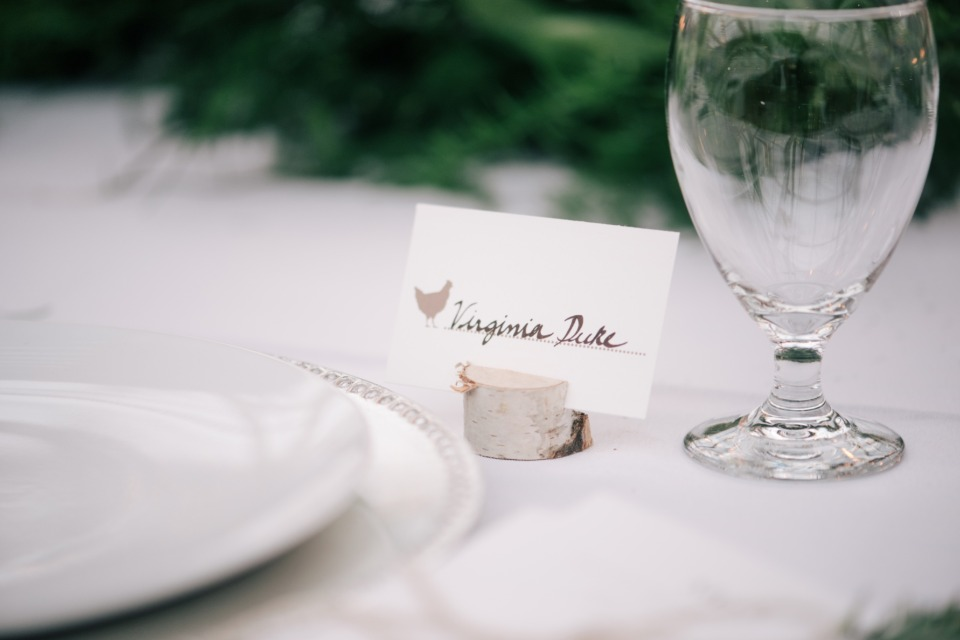 chicken accented place cards