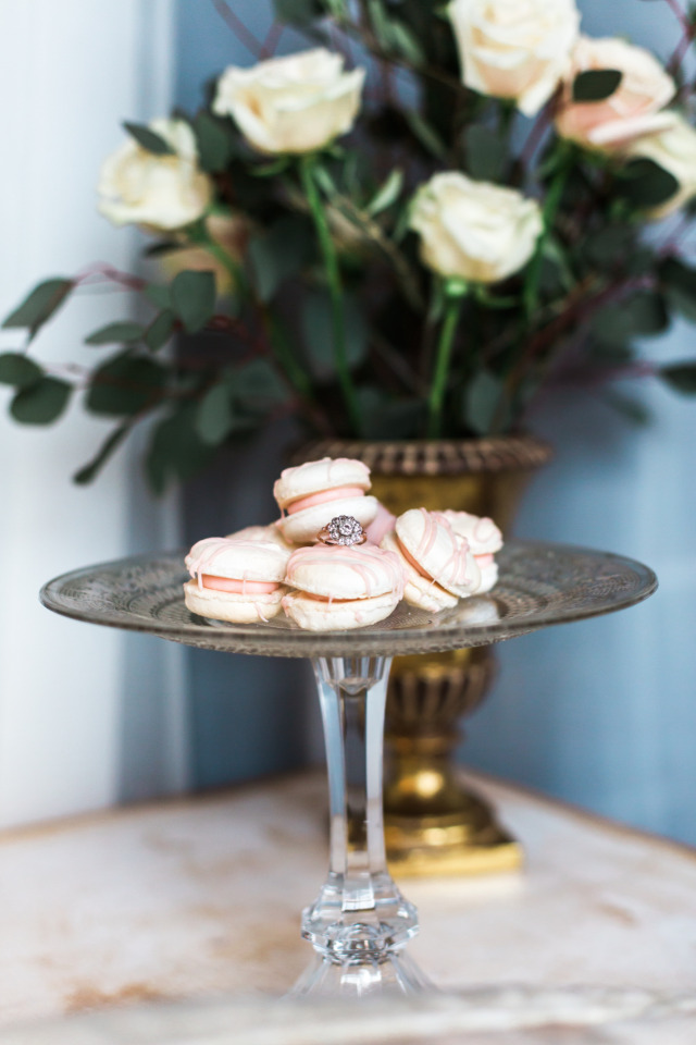 soft pink valentines day macarons