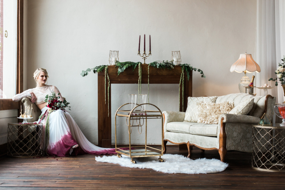 beautiful seating space for a wedding
