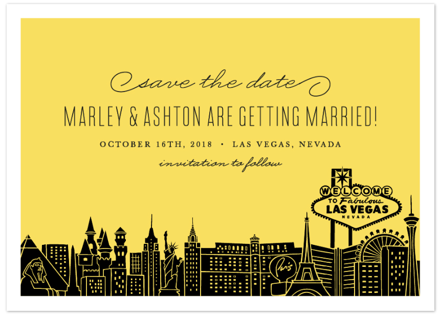 Vegas Save The Date