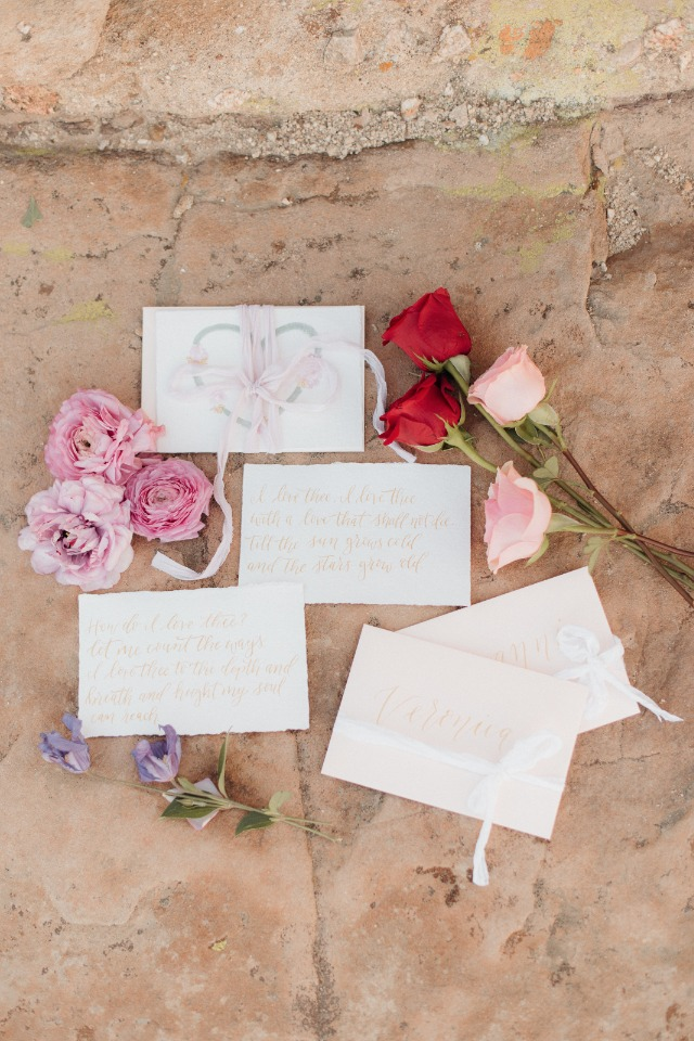 Pretty wedding paper