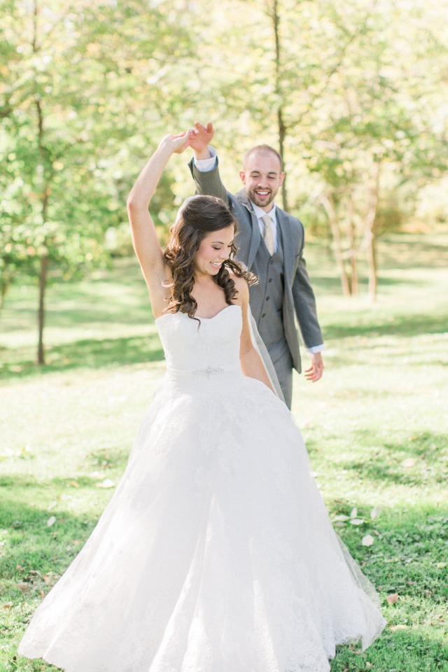 Don't forget to give your bride a twirl