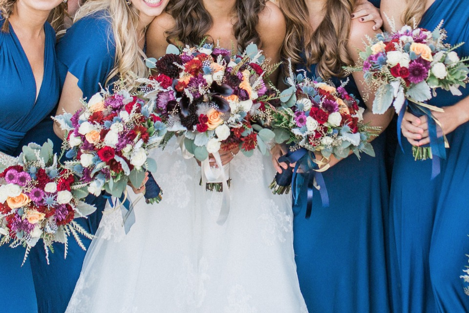 Colorful bouquets