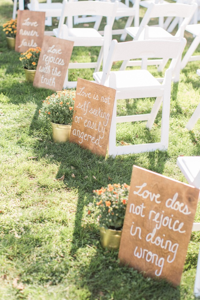 Cute wedding signs