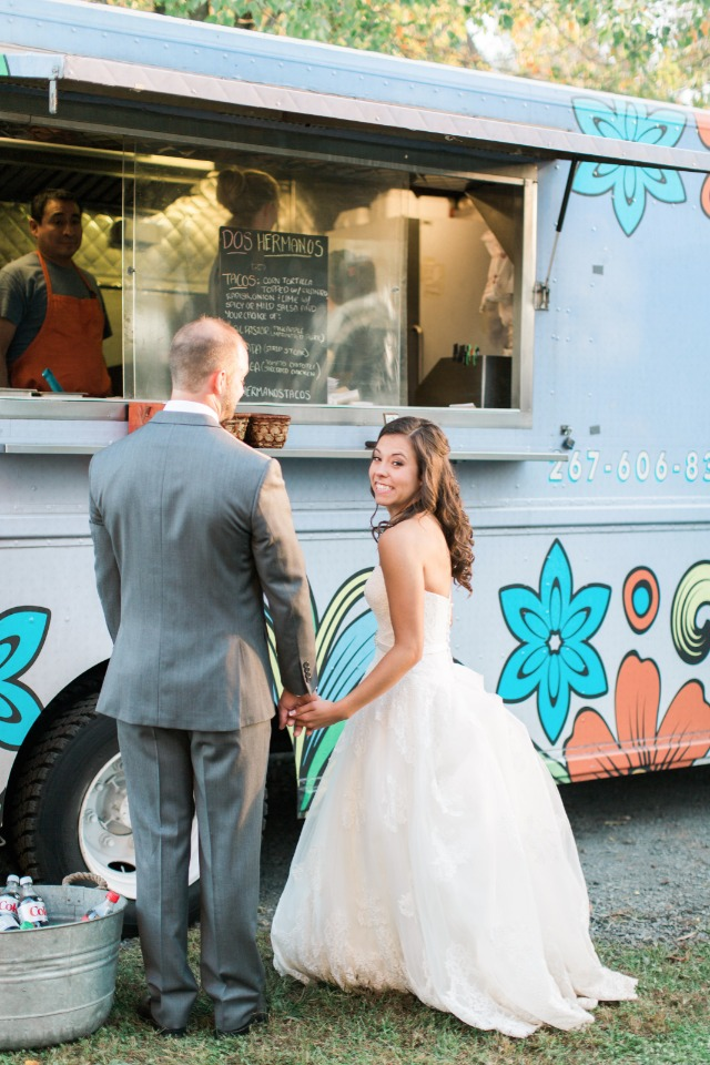 A bride and her food truck