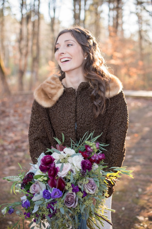 cozy fall bride style