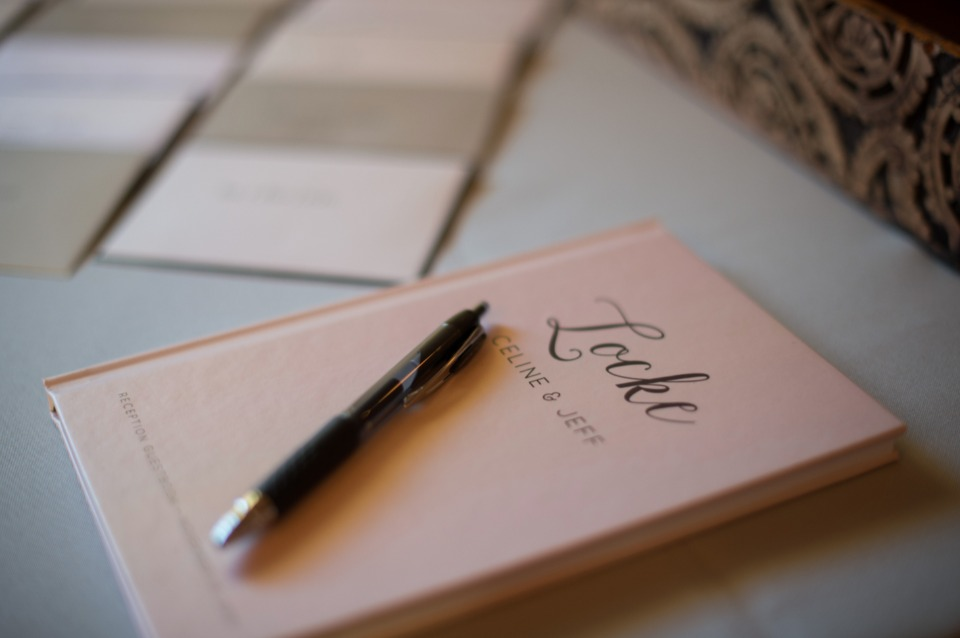 classic wedding guest book