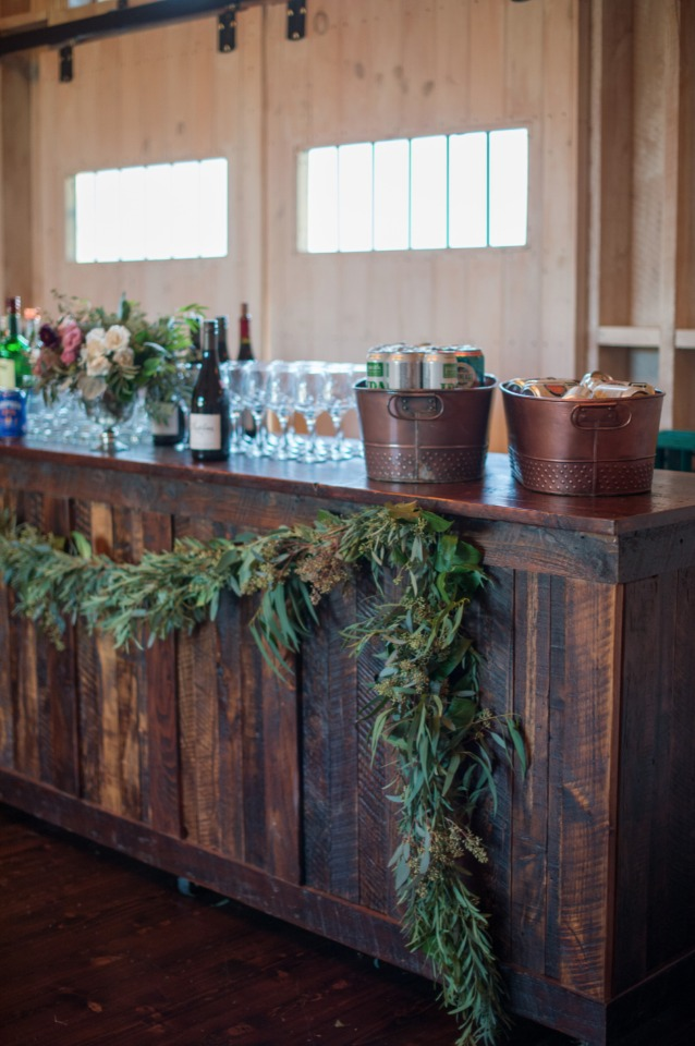 rustic chic wedding bar