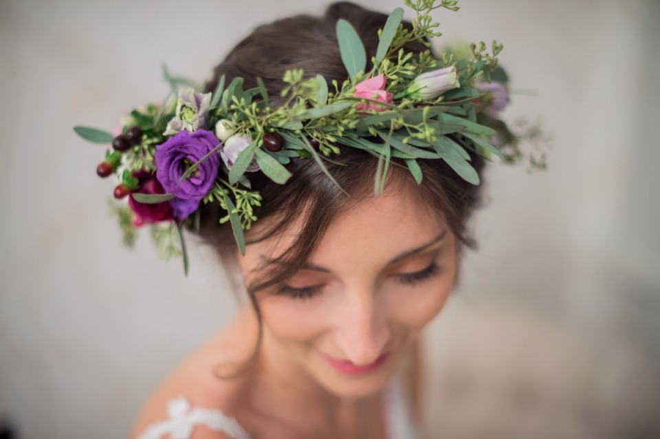 flower halo for the bride