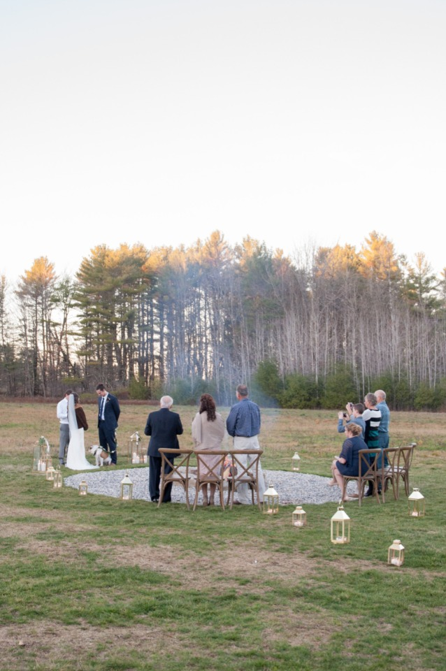 outdoor intimate wedding ceremony