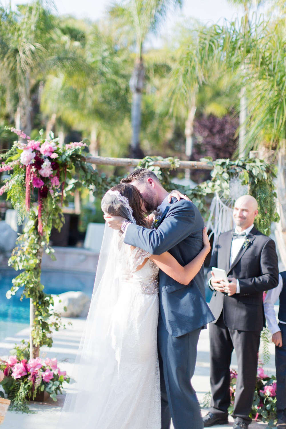 love was in the air at this dreamy bohemian chic outdoor wedding