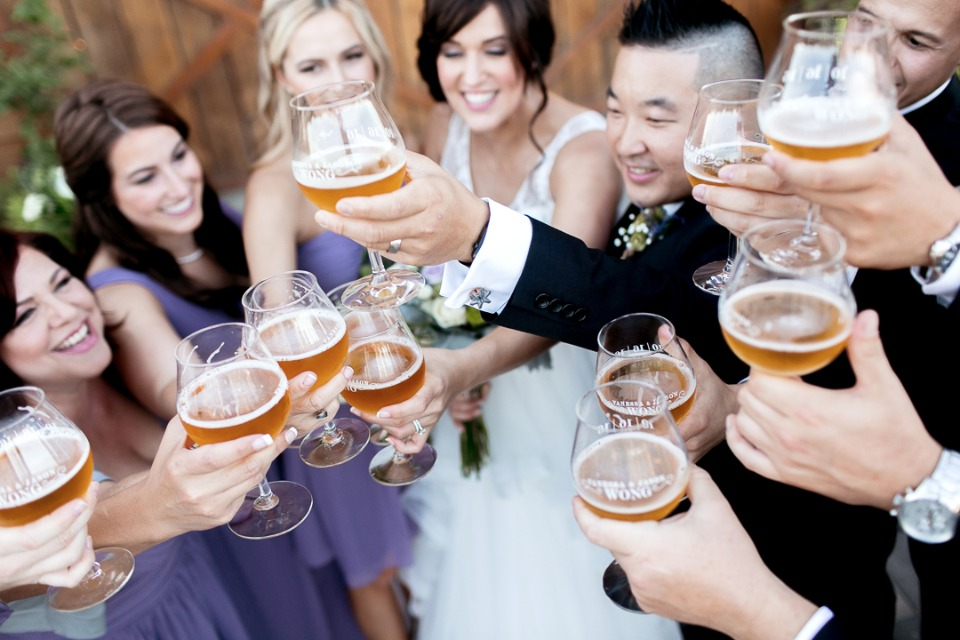 cheers to the wedding party