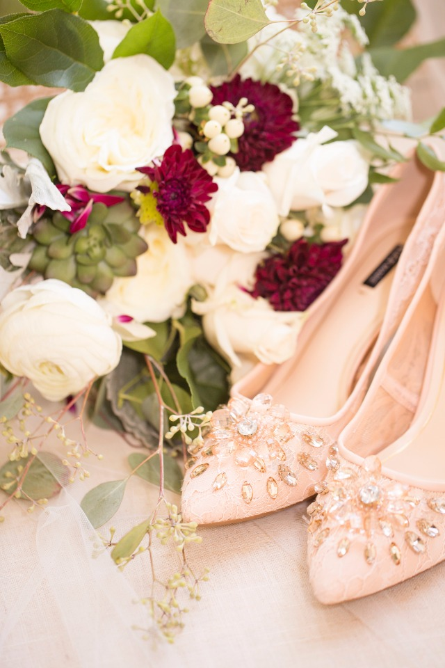 Pretty wedding shoes