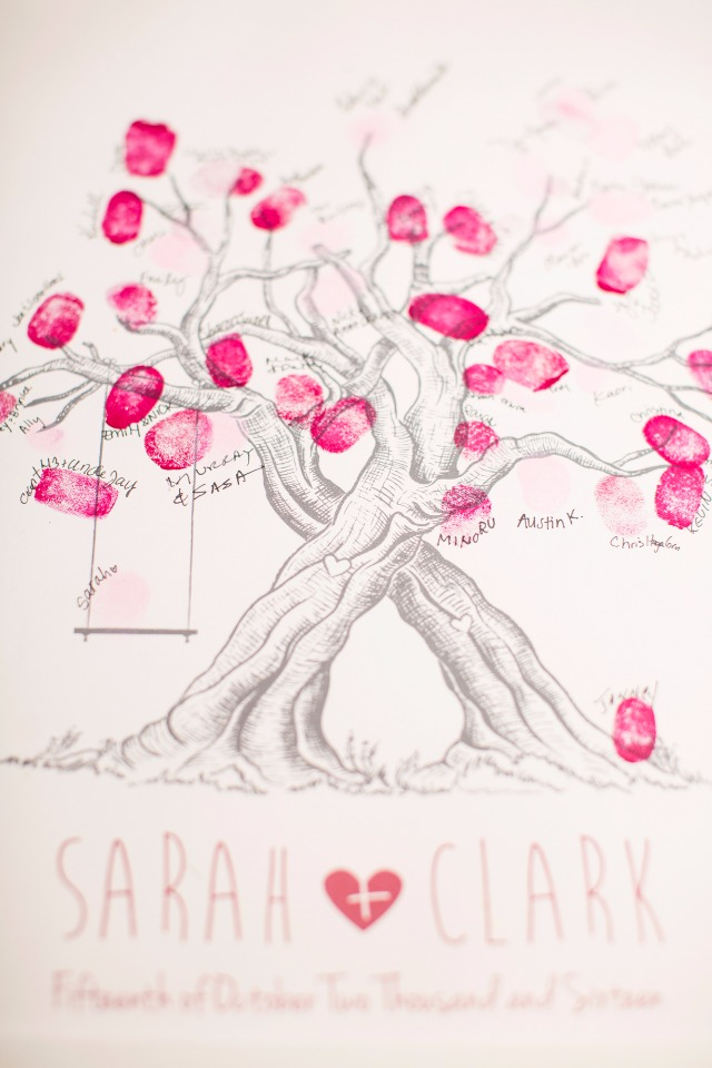 Cute thumbprint guestbook