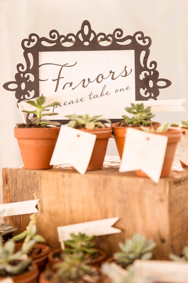 Natural wedding favors