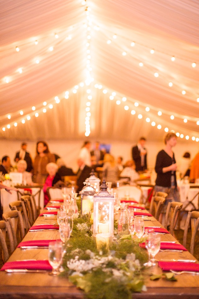 Elegant reception lighting