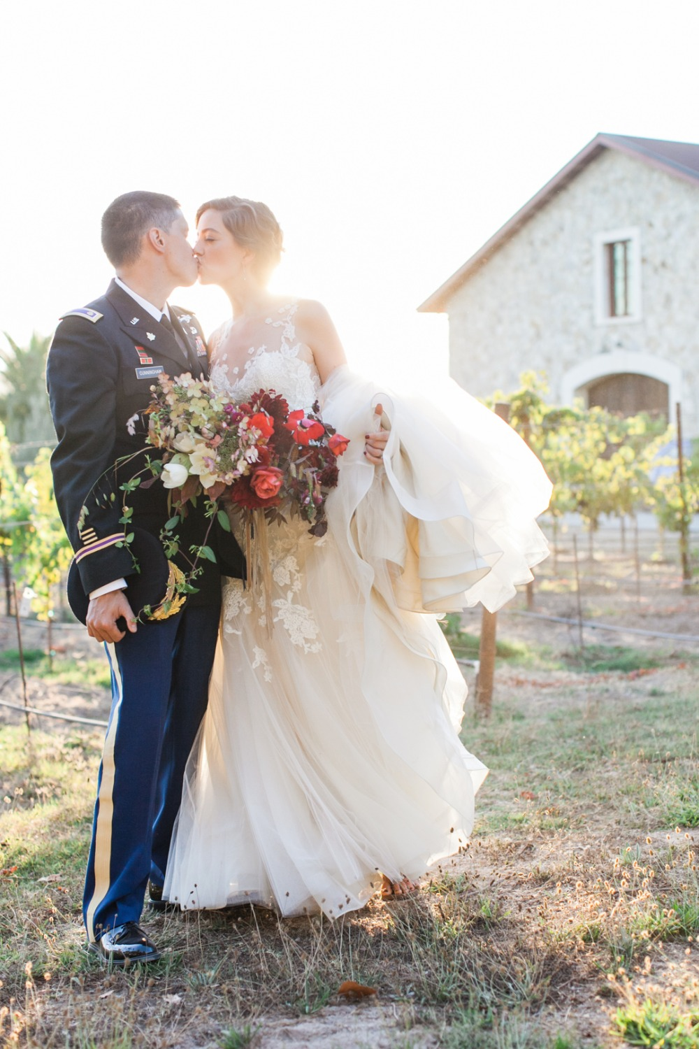 late summer vineyard wedding