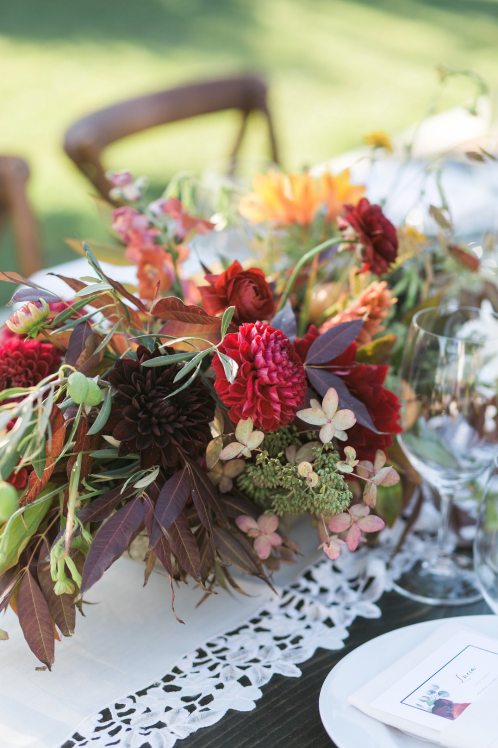summer or early fall centerpiece idea