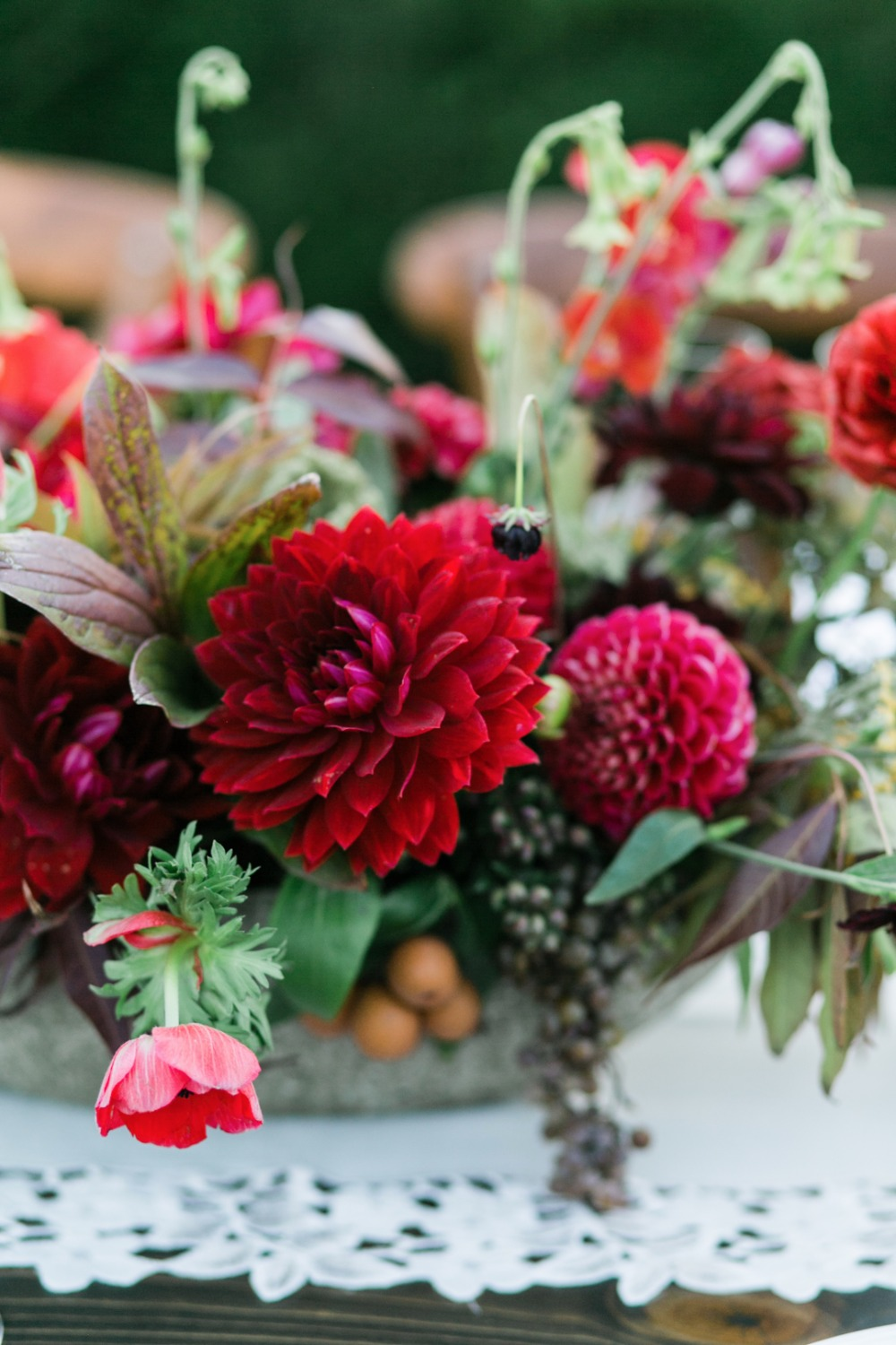 red centerpiece