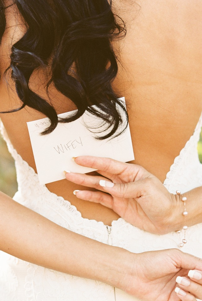 WIFEY letter from her groom