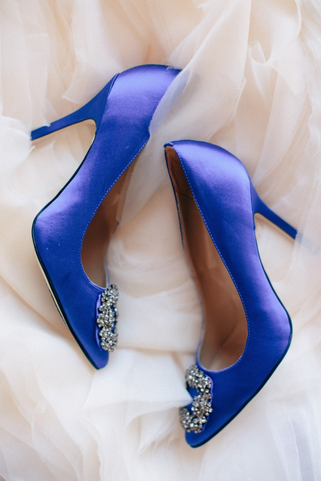 Something blue heels for the bride